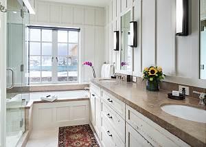 Master Bathroom - Shower, Bath, and Sinks