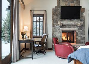 Master Bedroom - Writing Desk and Fireplace