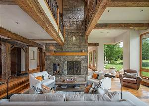 Great Room - Gather Around the Stone Fireplace