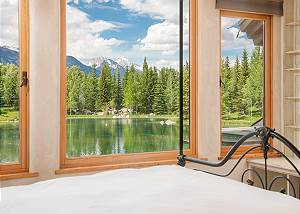 Bedroom - Water and Mountain Views