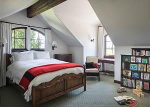 Master Bedroom - King Bed and Bookshelf