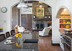 Kitchen - Island, Arches, and Gas Stove