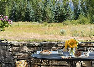 Patio - Table next to the Forest