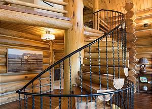 Spiral Staircase - Ascending Logwork