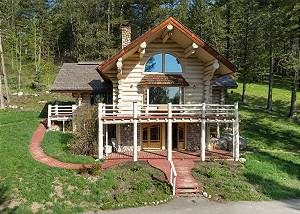 Cabin Front - Vacation Home in the Woods