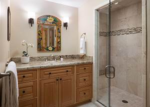 Downstairs Bathroom - Floral Accents
