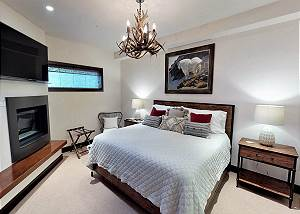 Master Bedroom 2 - King Bed and Fireplace