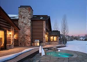Home Exterior - Stone Hot Tub