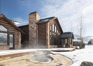 Home Exterior - Hot Tub Steaming