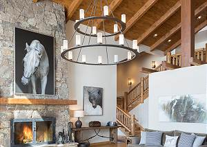 Great Room - The Iron Chandelier
