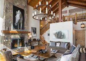 Great Room - View into the Loft