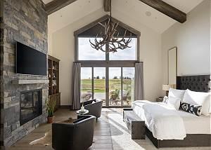 Master Bedroom - Two Sitting Charis - Exterior Doors