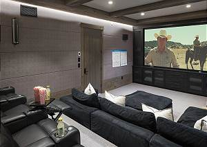 Theater Room- Great Area to Relax After a Long Hike or a Day on