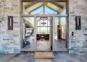 Beautiful Entrance with Stone Work