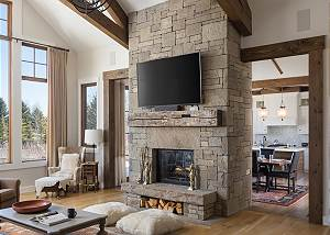 Great Room - TV and Fireplace
