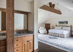 Bedroom - Bold Wood Framing Against the White