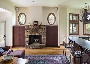 Sitting Area 2 - Wood-Burning Fireplace