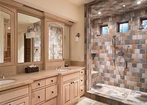 Bathroom - Dual Vanities and Walk-in Shower