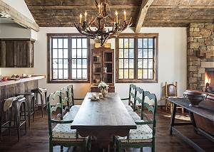 Dining Area - Contemporary Design with Rustic Flair