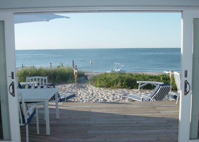 Sand & Beach Right off your Deck.