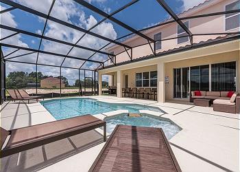 Stunning 14 Bed Pool Mansion Resorts Largest 6152 Davenport Vacation Rental