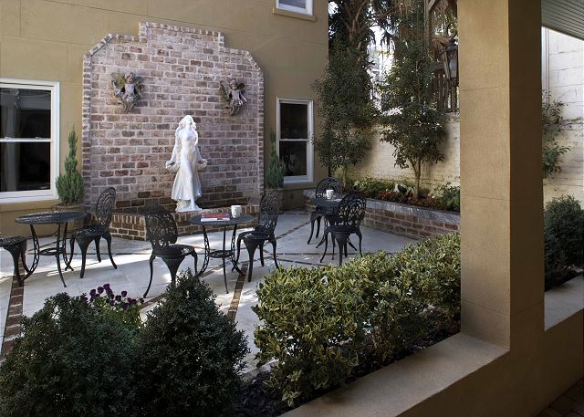 Courtyard steps out the door