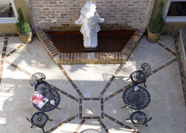 Sunny Courtyard with fountain