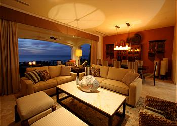 Unwind in the confortable living room.