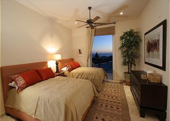 Villa Pamela's third suite, with balcony.