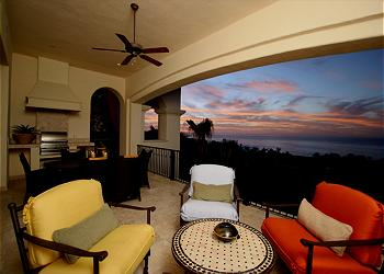Watch the stars come out on the condo's terrace.