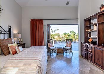 Master Bedroom with Open Doors to the Pool