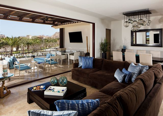 Living Area with Open Terrace