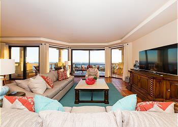 Living Room with Full Ocean Views