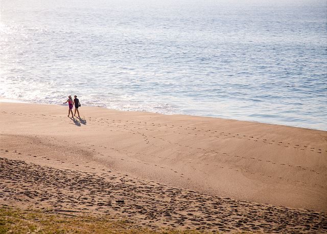 Enjoy 2 miles of sandy beach