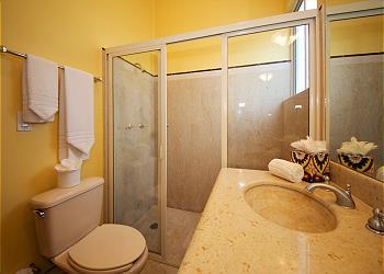 Red Casita Bathroom