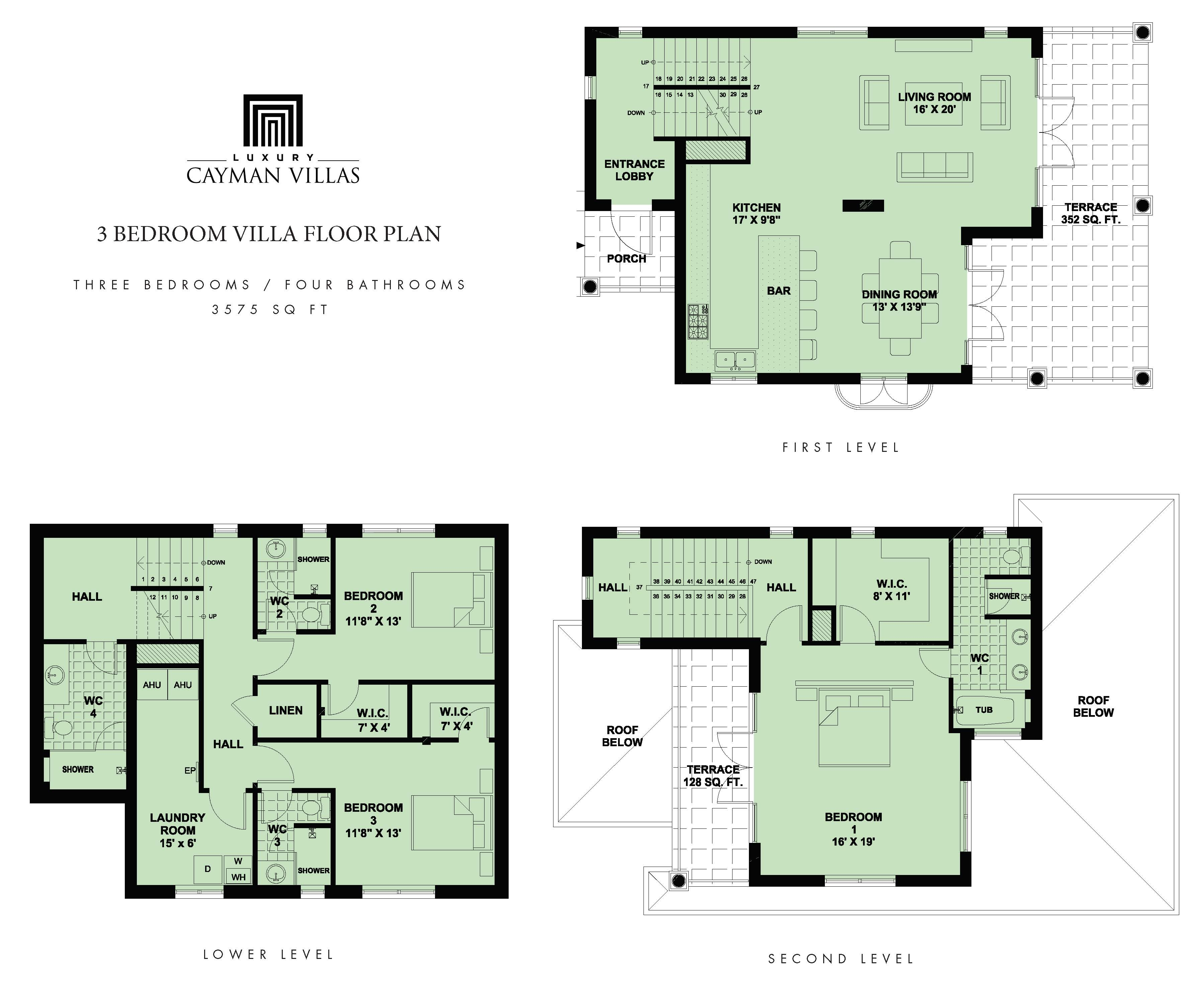 Floor plans share this villa