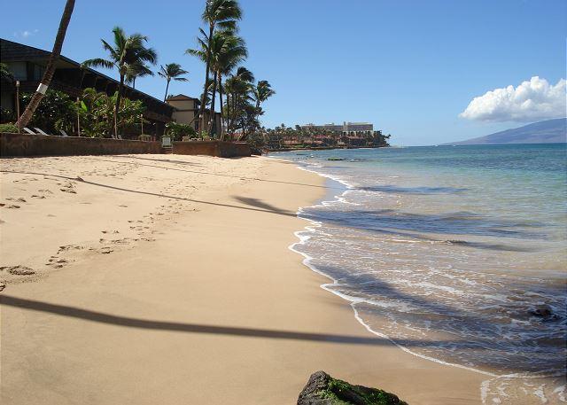 Adjacent sandy beach