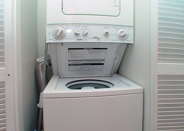 Washer/dryer in unit!