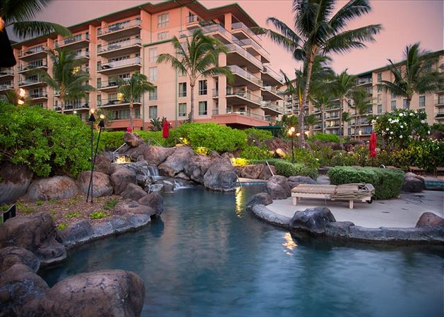 Honua Kai pools at sunset