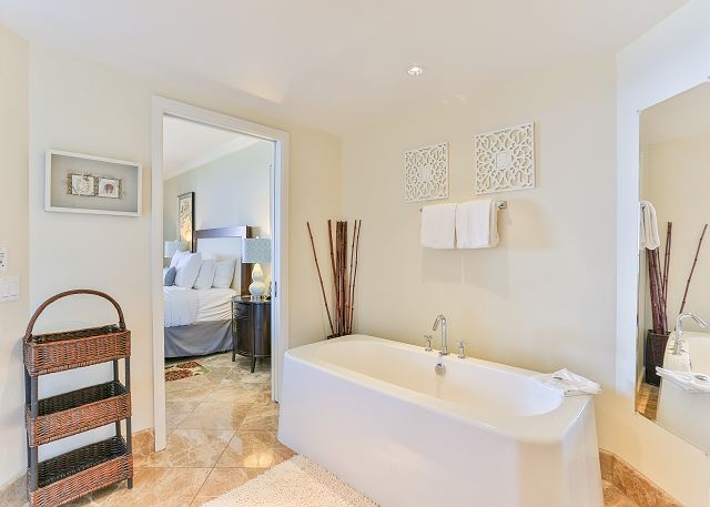 Full bath with ocean view