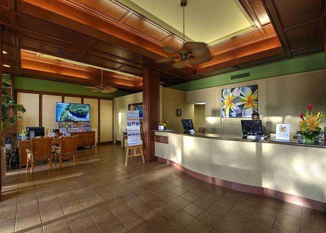 Lobby at the Maui Eldorado.