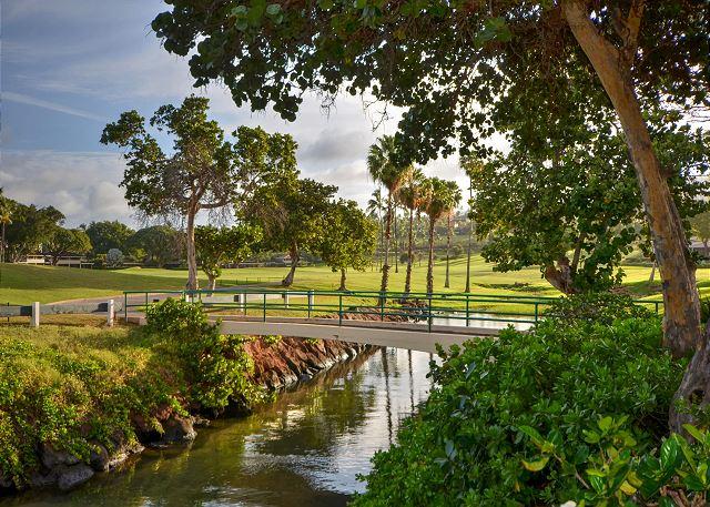 golf corse beach walkway