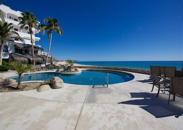 Beachfront pool.