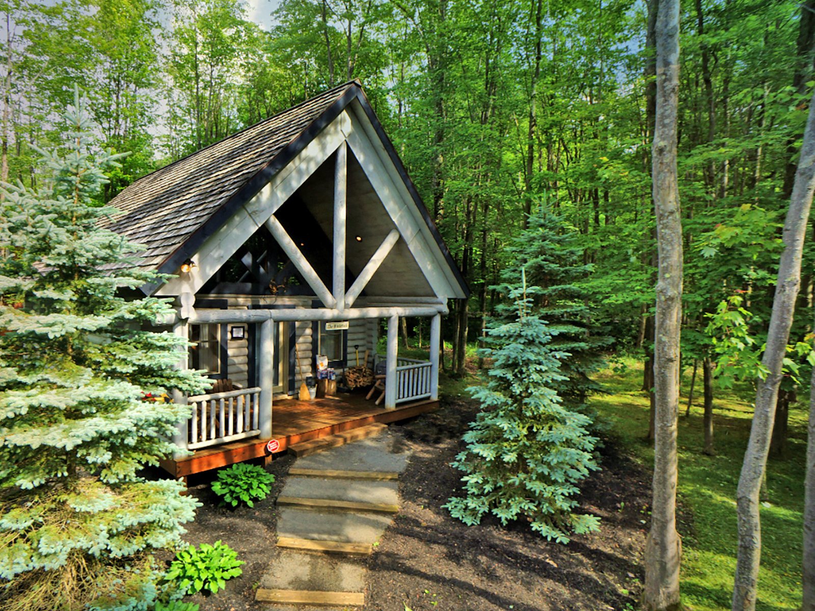 cabin warm pin country with creek vrbo deep lake cabins inviting rentals