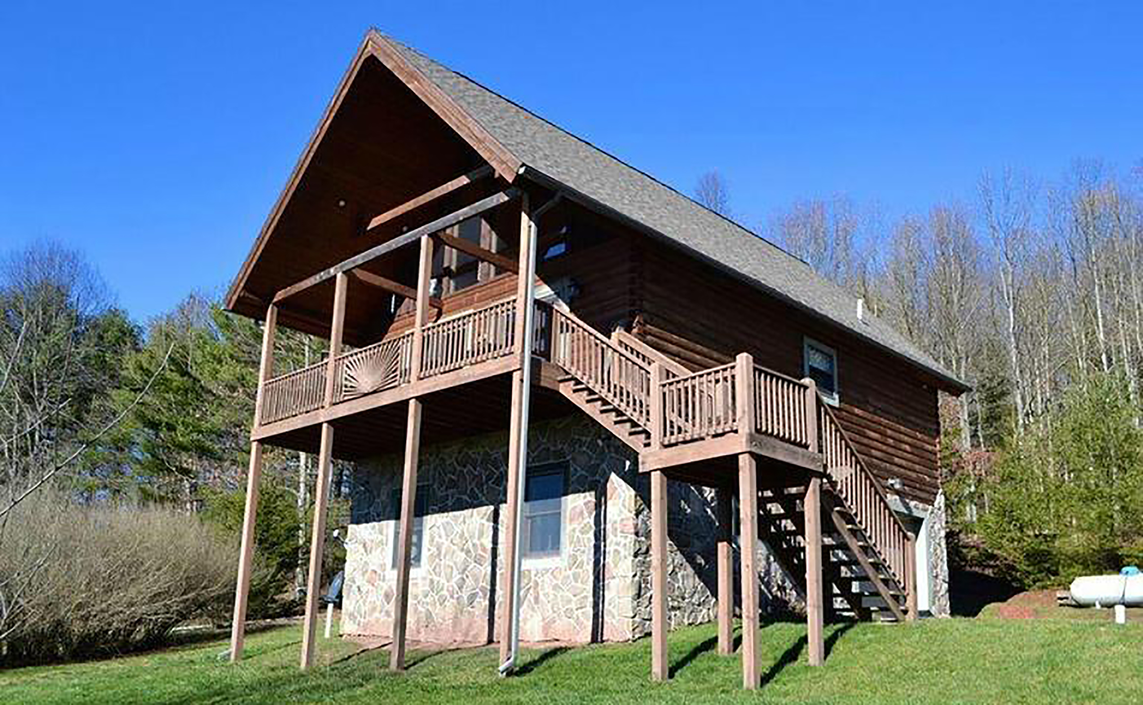 cabin creek deep cabins haven trail mystic lake rentals vacation