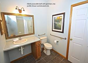 Handicap accessible bath-Descriptive