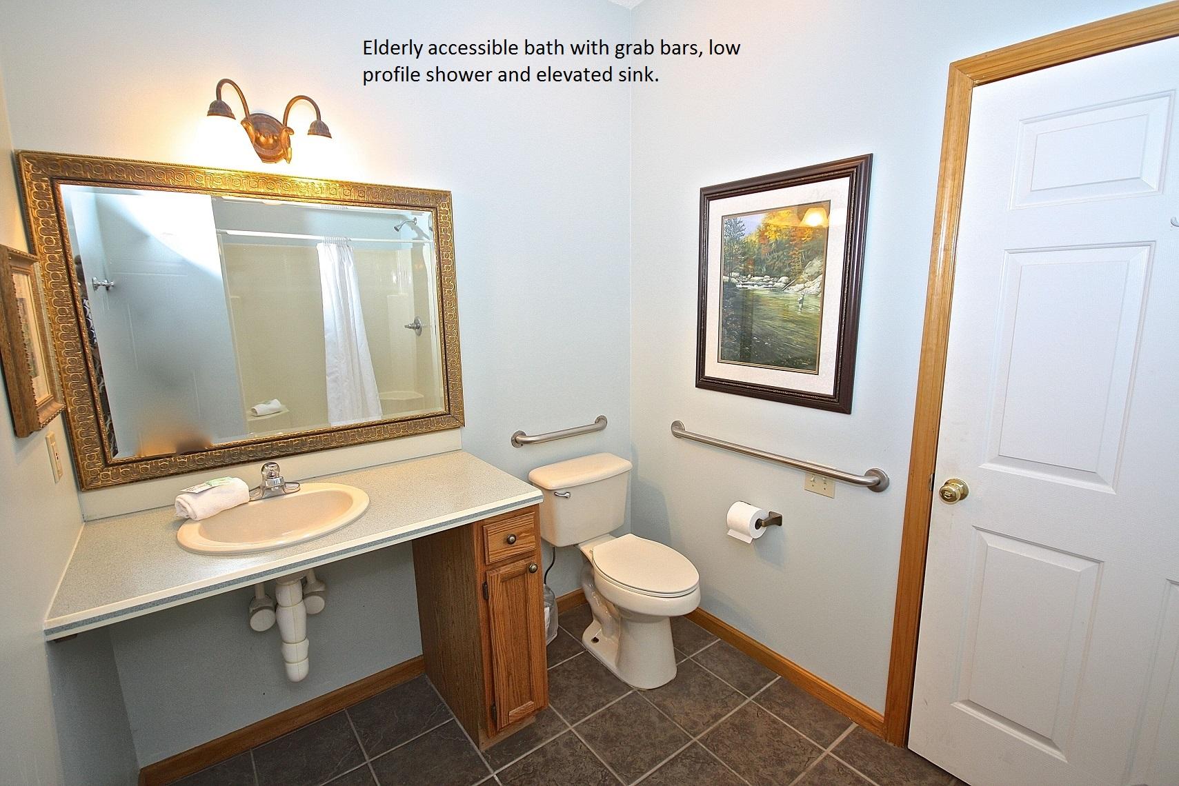 Handicap accessible bath-Original