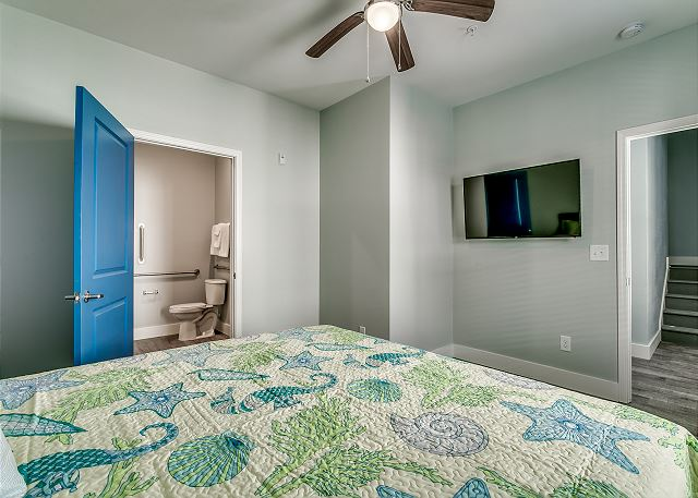 Handicapped room with private bathroom.