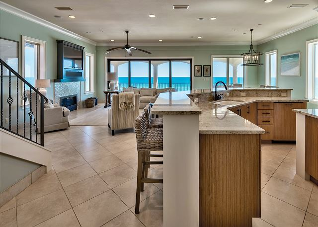 Third Floor Kitchen and Living!