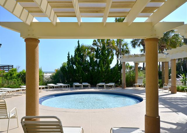 Covered Lanai at Westwinds Community Pool